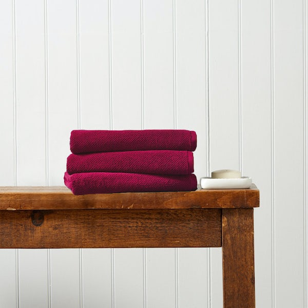 Christy Brixton magenta hand towel