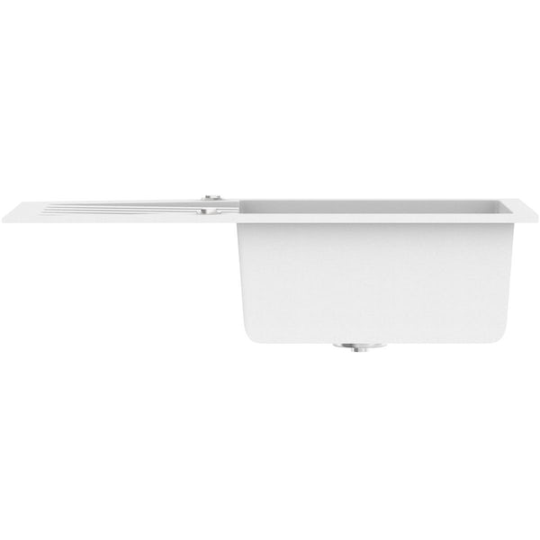 Schön Arola chalk white 1.0 bowl reversible kitchen sink