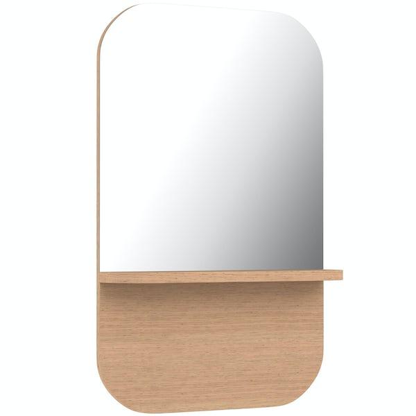 Innova Lund wall mirror with shelf
