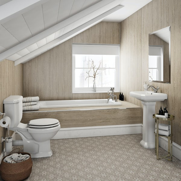 Multipanel Heritage Delano Oak Hydrolock shower wall panel