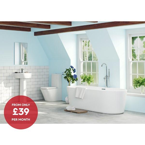 Mode Arte bathroom suite with Arte freestanding bath