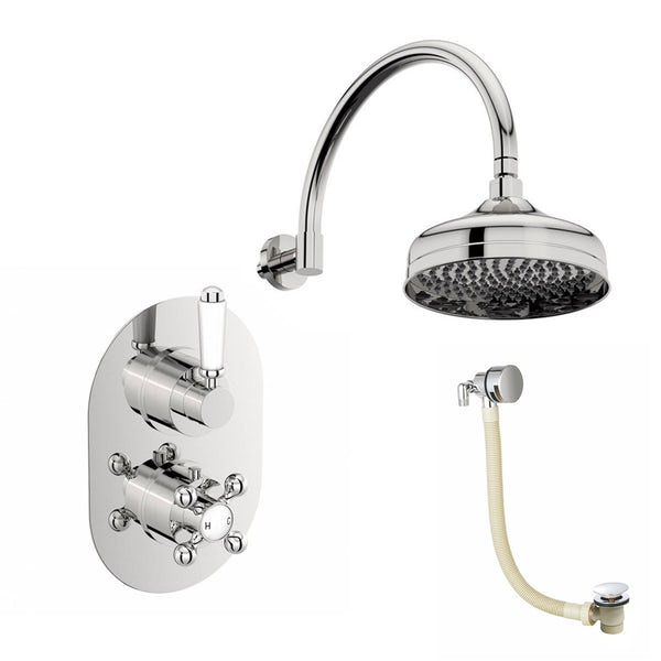 Coniston Thermostatic Bath Filler & Shower Set