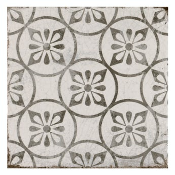 The Bath Co. Aragon petal grey matt wall and floor tile 200mm x 200mm