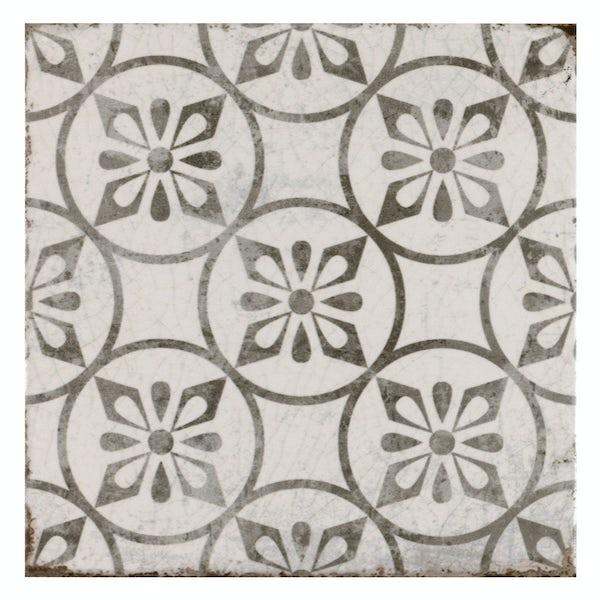 Aragon petal grey matt wall and floor tile 200mm x 200mm