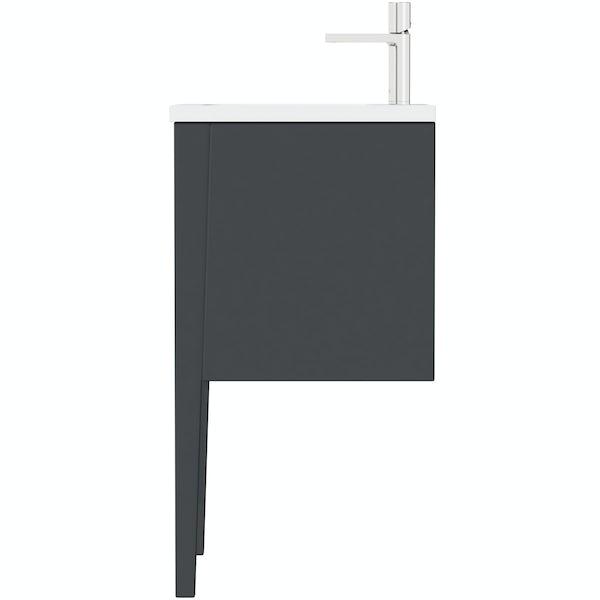 Mode Hale grey gloss wall hung vanity unit and basin 600mm