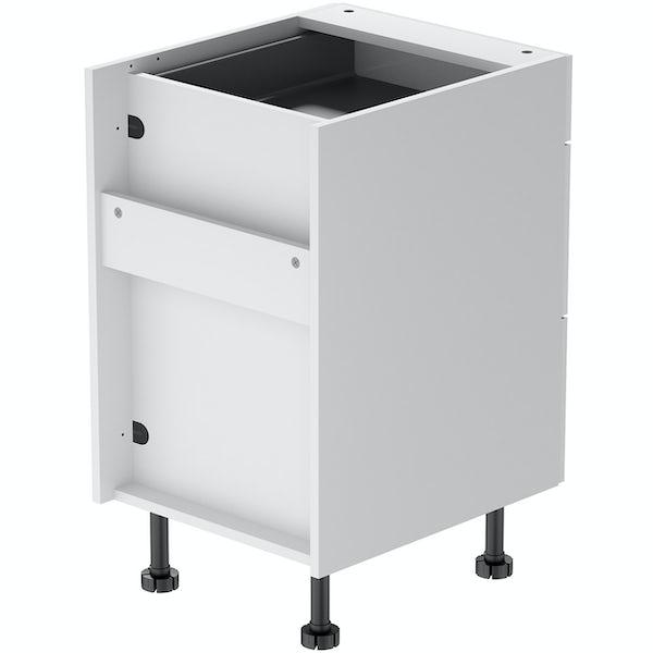 Schon Boston white slab 3 drawer unit