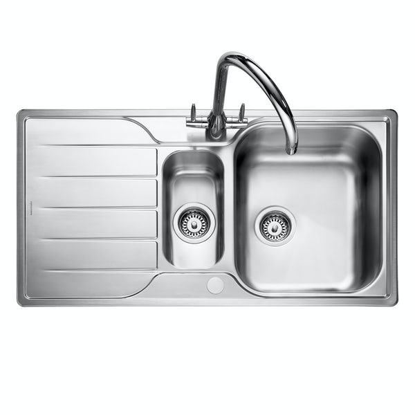 Rangemaster Michigan 1.5 bowl reversible kitchen sink