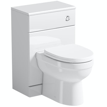 Orchard Eden white slimline back to wall unit and toilet with soft close seat