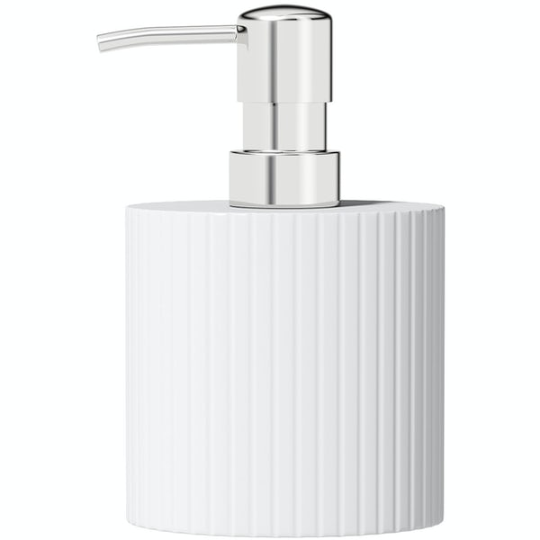 Accents white and chrome soap dispenser