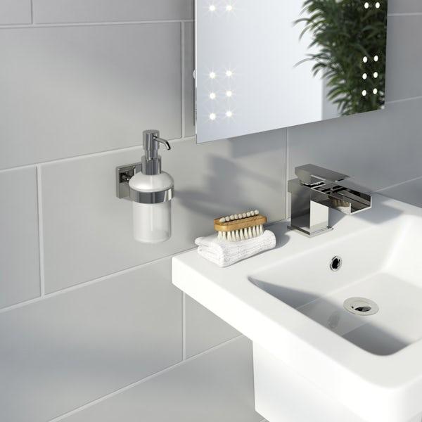 Accents square plate contemporary soeap dispenser