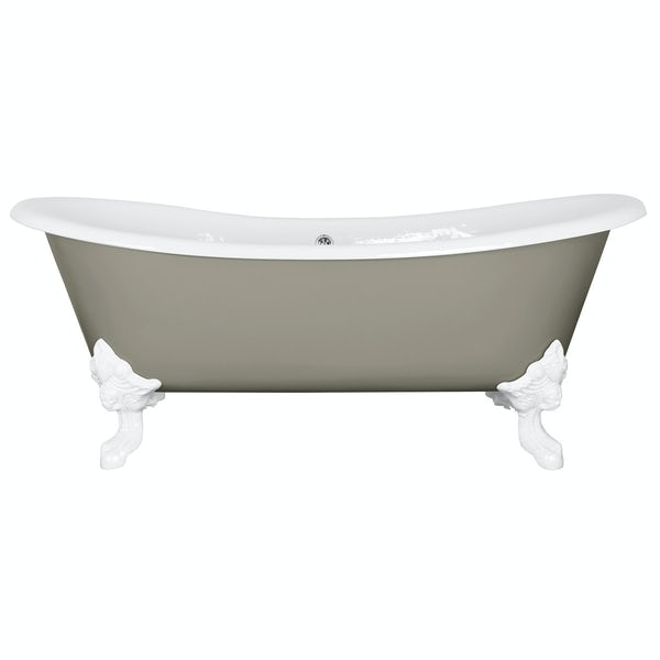 The Bath Co. Dover misted green cast iron bath