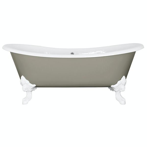 The Bath Co. Dover misted green cast iron bath