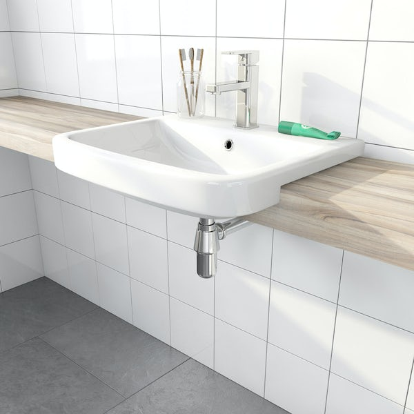 Mode Carter semi recessed basin 550mm