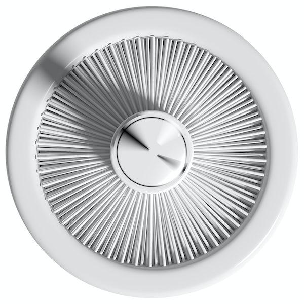 Accents white ceramic toilet brush holder