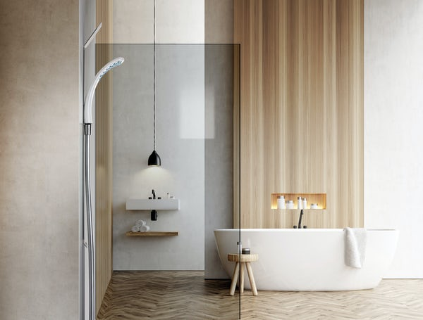 Clarity easy install magnetic shower and riser rail with adhesive pads