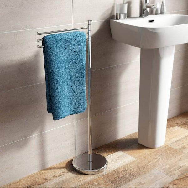 Options Contemporary Freestanding Towel Rail