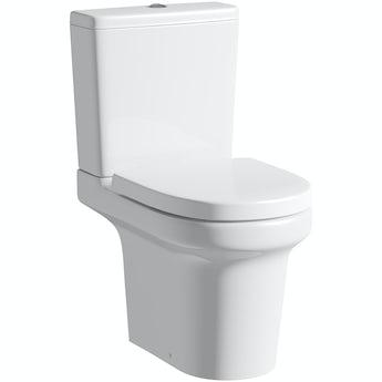 Mode Burton close coupled toilet with soft close seat