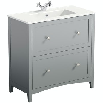 The Bath Co. Camberley satin grey vanity unit with basin 800mm