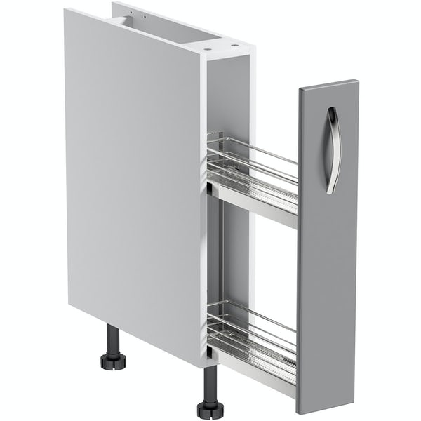 Schön New England light grey 150mm pull out base unit
