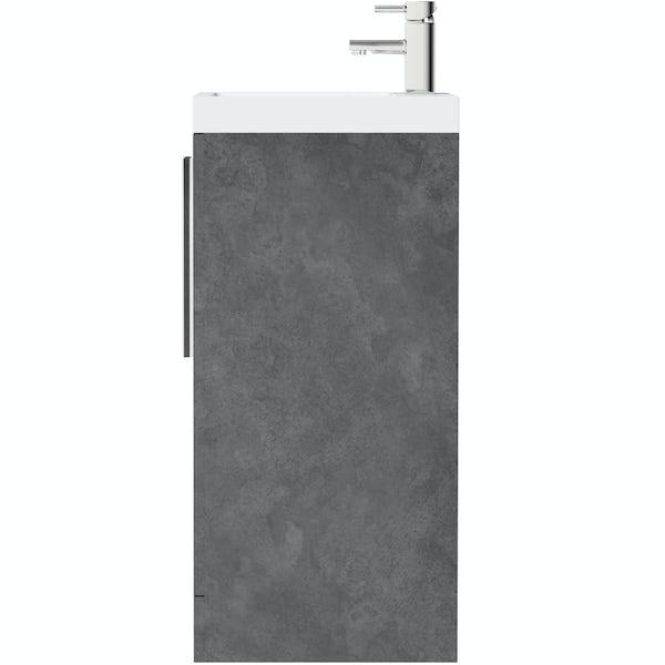 Orchard Kemp floorstanding vanity unit and basin 600mm