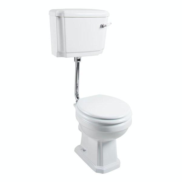 The Bath Co. Cromford low level toilet inc white soft close seat
