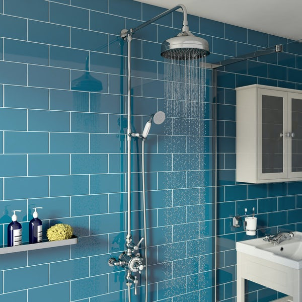 The Bath Co. Camberley thermostatic exposed mixer shower