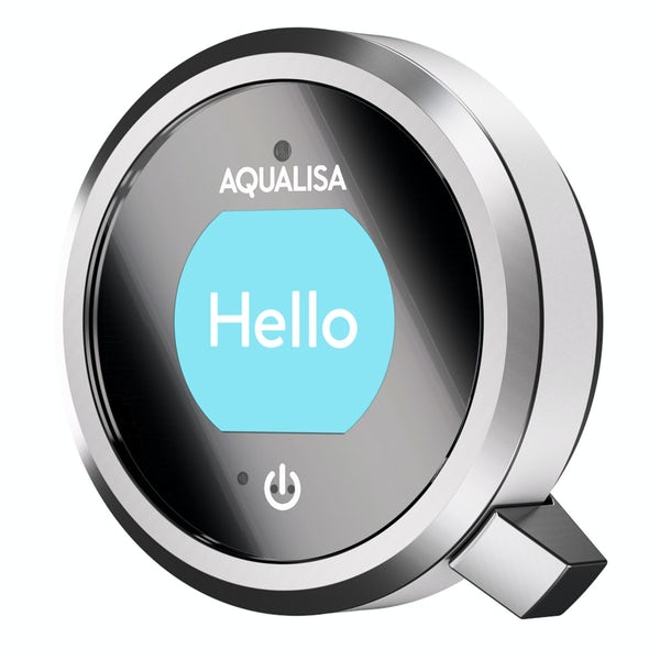 Aqualisa Q exposed digital shower pumped with bath filler