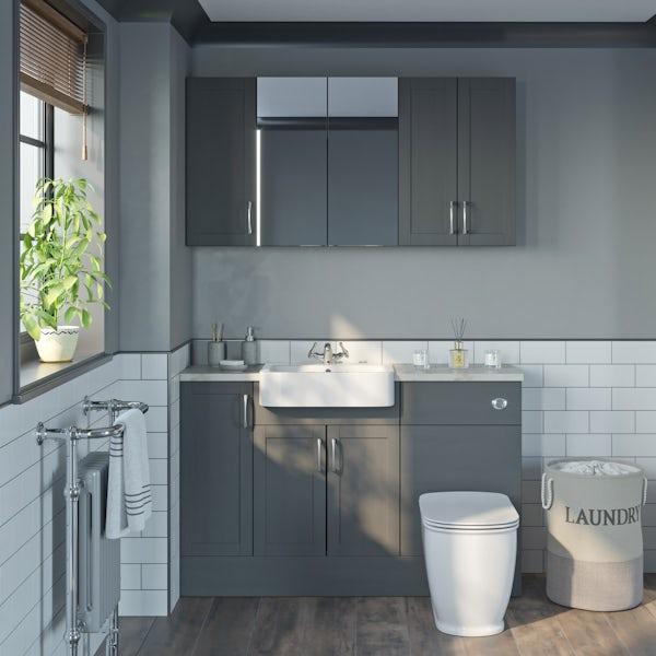 The Bath Co. Newbury dusk grey wall cabinet 500mm