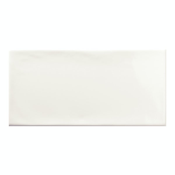 Annecy white gloss wall tile 75mm x 150mm