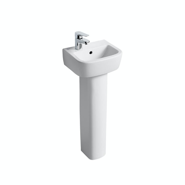 Ideal Standard Tempo 1 tap hole left handed full pedestal basin 350mm