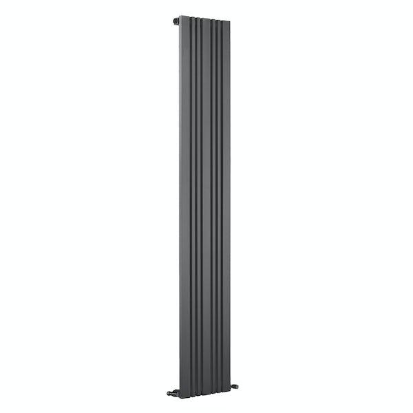 Reina Bonera anthracite grey vertical steel designer radiator