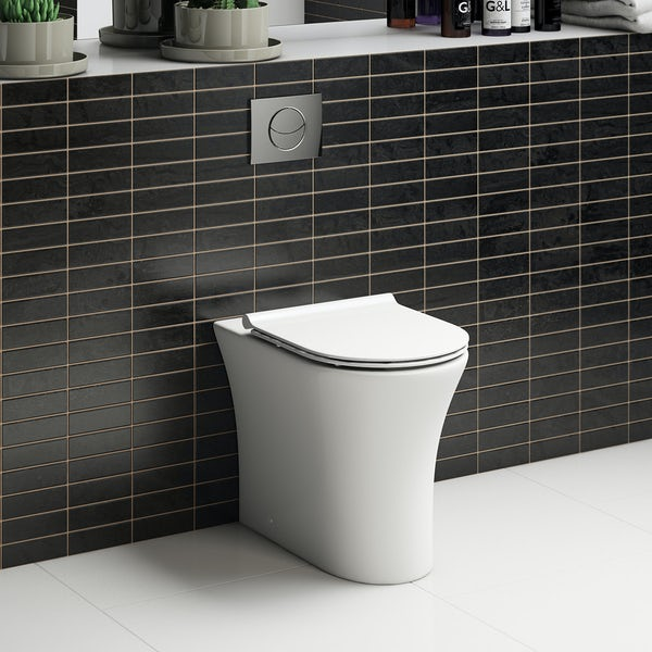 Mode Hardy rimless back to wall toilet inc slimline soft close seat