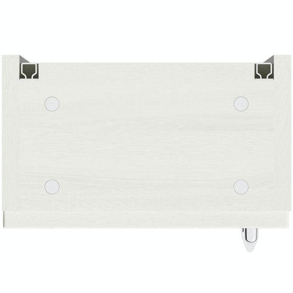 The Bath Co. Newbury white wall cabinet 300mm