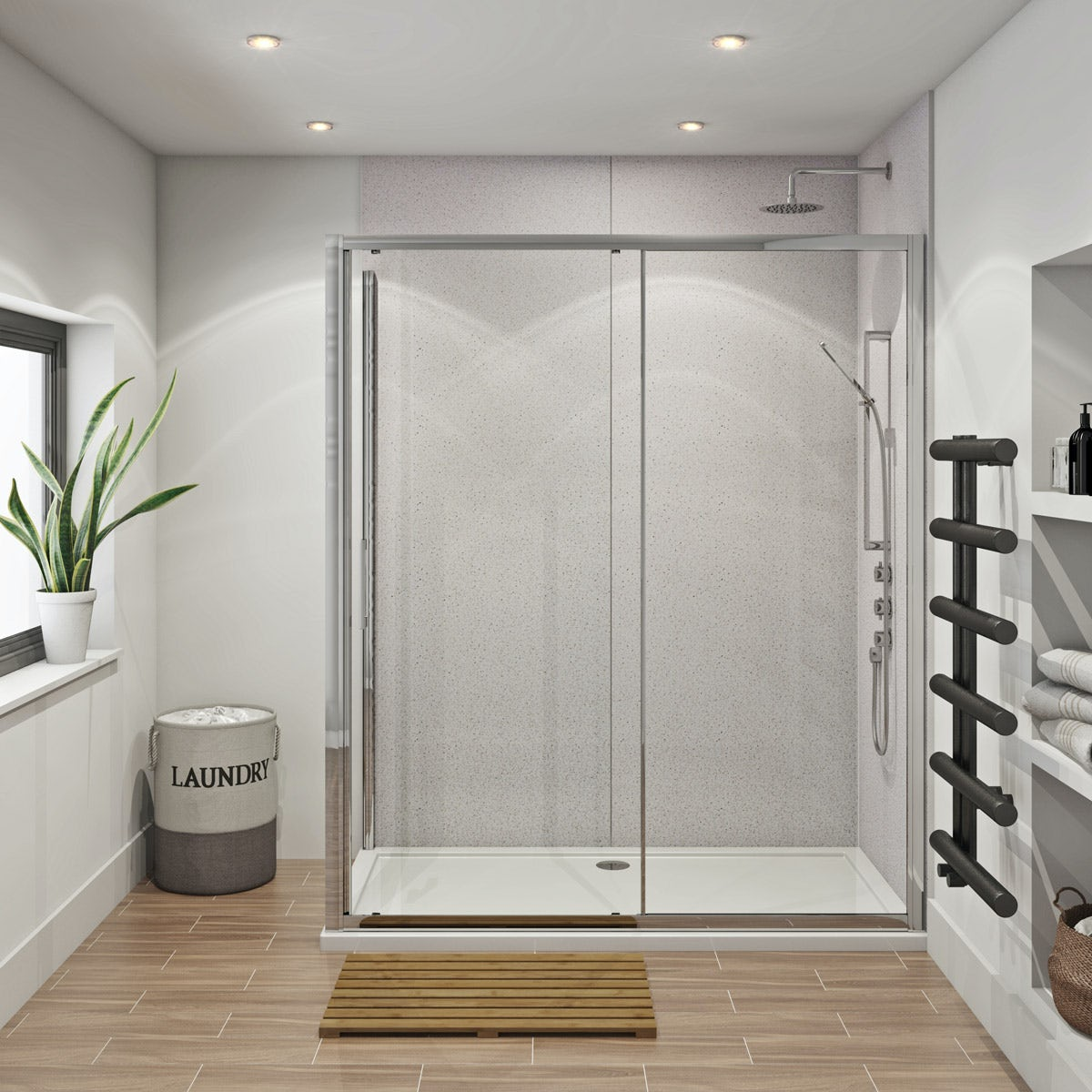 Multipanel Economy Sunlit Quartz Shower Wall Panels With