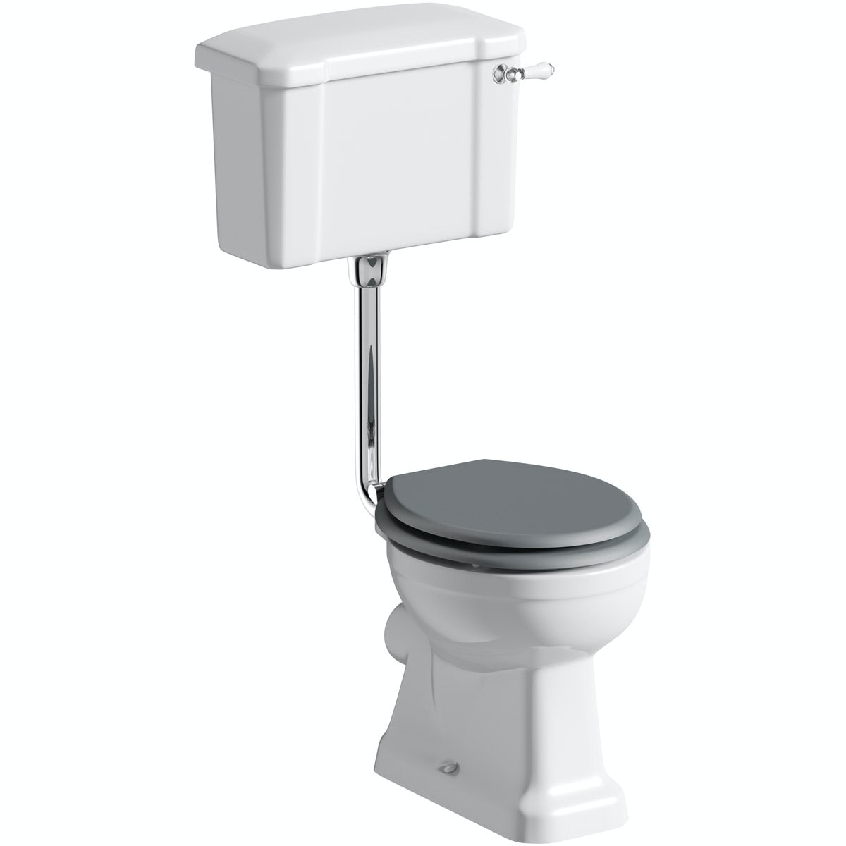 The Bath Co Camberley Low Level Toilet Inc Grey Soft