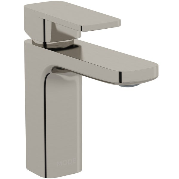 Mode Spencer square brushed nickel basin mixer tap offer pack