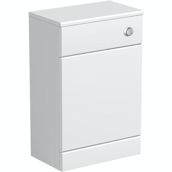 Eden white slimline back to wall toilet unit