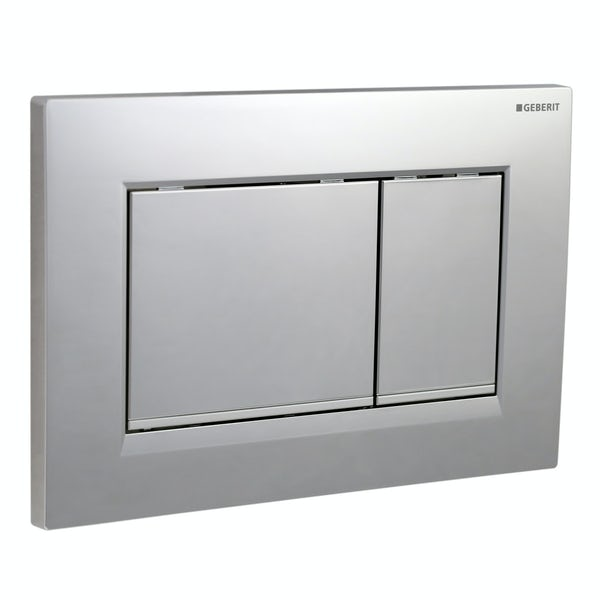 Geberit Sigma30 dual flush plate gloss and matt chrome