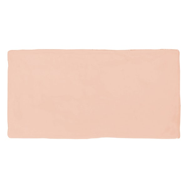 Annecy powder pink matt wall tile 75mm x 150mm