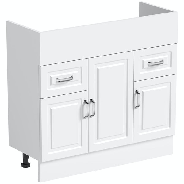 Orchard Florence white unit 850mm with plinth