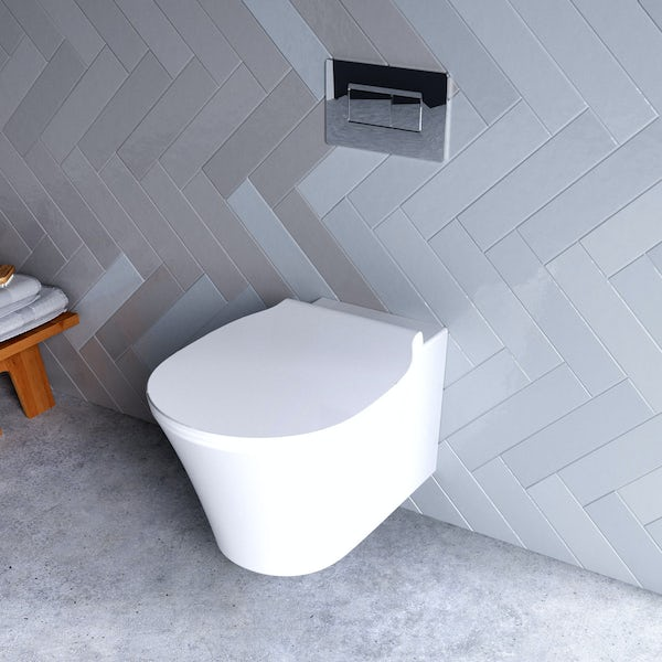 Ideal Standard Concept Air wall hung toilet with soft close toilet seat