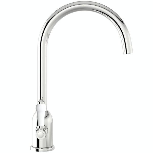 Schön Eriskay kitchen tap with ceramic handle