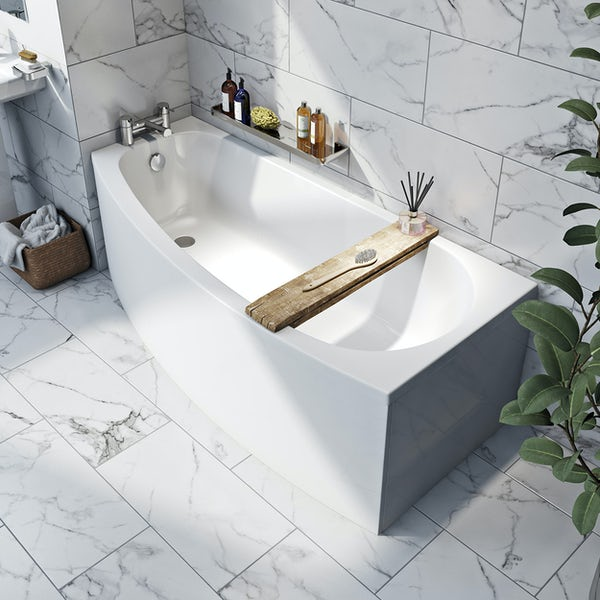 Orchard spacesaver single ended left handed bath 1690 x 690