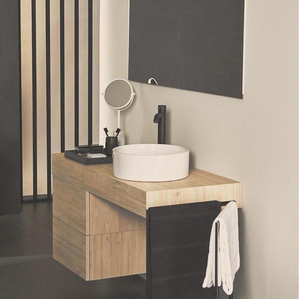 Ideal Standard Ceraline silk black high rise basin mixer tap