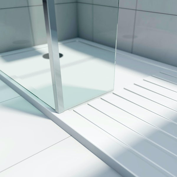 Mode Spacious Luxury 8mm 3 Sided Walk In Shower Enclosure