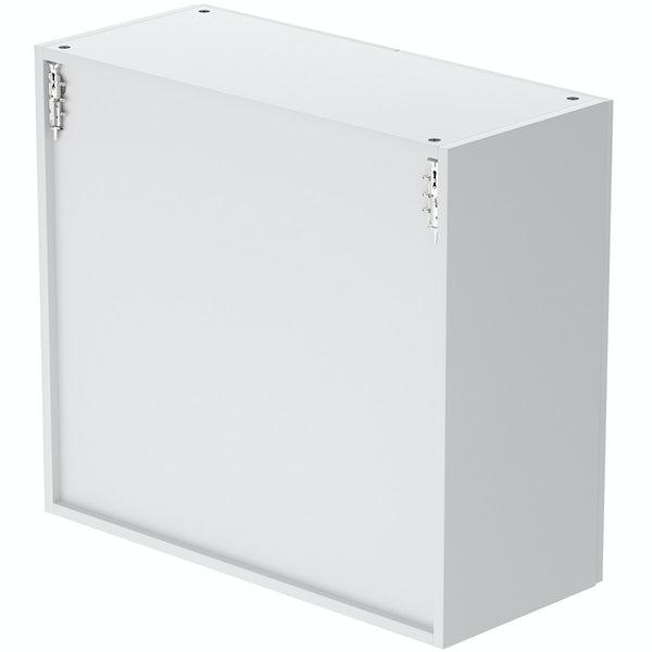 Schon Boston white 2 door slab wall unit
