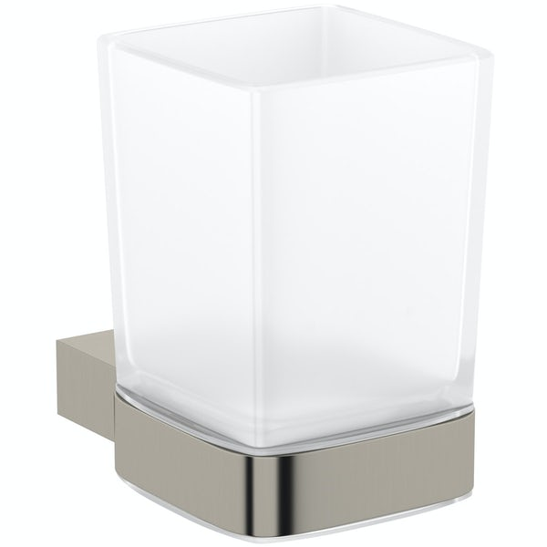 Mode Spencer brushed nickel tumbler and holder