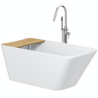 Mode Foster freestanding bath & tap pack with Heath bath filler
