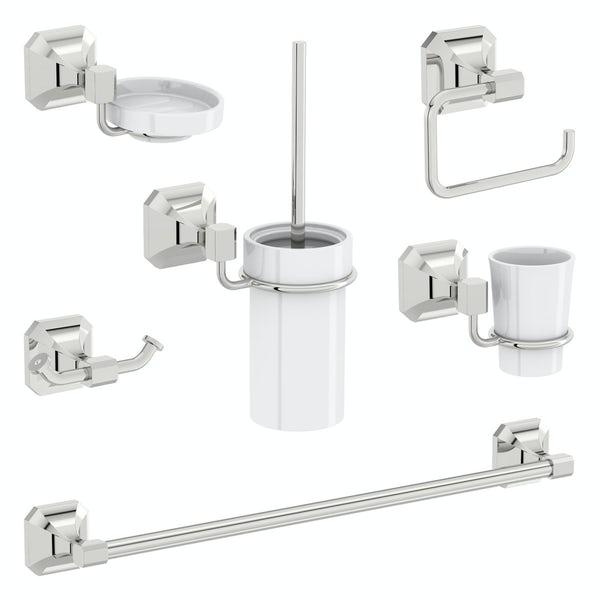 The Bath Co. Camberley 6 piece master bathroom accessory set