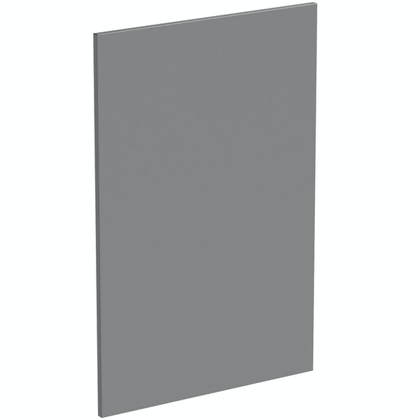 Schon Chicago mid grey 600mm wall end panel